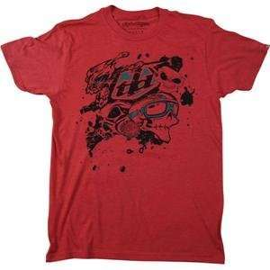 Troy Lee Designs Skullface Slim Fit T Shirt   Medium/Heather Red