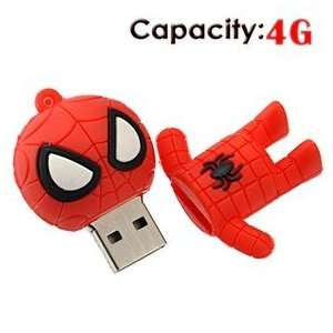 4G Small Cartoon Spider Man Shape Rubber USB Flash Drive