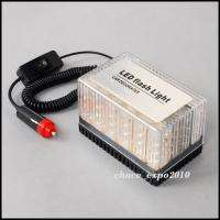 48 LED Amber Car Roof Flashing Flash Strobe Emergency Top Light