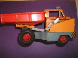 VERY VERY Rare OLD Vintage ANTIQUE Tin Toy FRICTION Dumper Truck