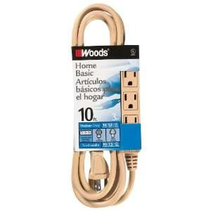 2865 10 Foot SJT 3 Outlet Extension Cord, Beige