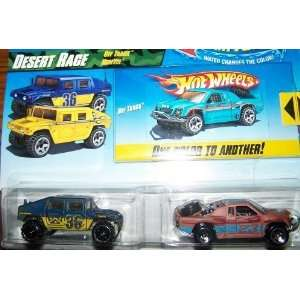 Hot Wheels Color Shifters Desert Race Off Track Blue Yellow Humvee