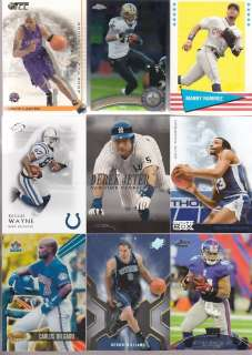 SPORTS CARD COLLECTION BASEBALL FOOTBALL BASKETBALL GU JERSEY ROOKIE