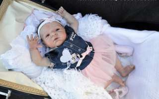 Beautiful realistic reborn big baby girl doll with tummy from **Dreams