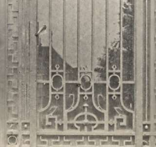 Wrought Iron Gate France Art Deco Jacquart Photo 1930