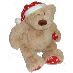 Cute Santa Hat Teddy Bear Plush Snowflakes Christmas Toys