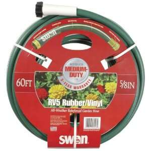 Swan 5/8 Inch by 60 Foot RV5 All Weather Garden Hose