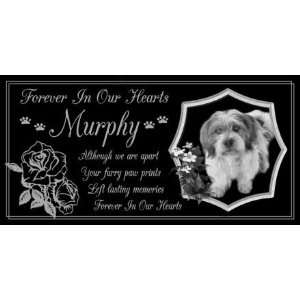 Gifts Personalized Black Granite Pet Memorial Marker Style Murphy Pet