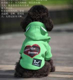 New 1 PCS Winter Dog Frog Apparel Coat Clothes Costume Suit Outfits