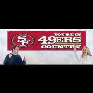 Youre In SAN FRANCISCO 49ers Country NFL Red Embroidered 8 x 2