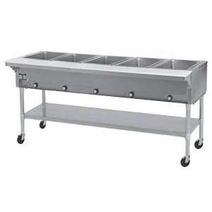 Eagle Group SPDHT5 Portable Hot Food Table 5 Well   All