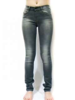 NEW Diesel Brand Womens Super Stretch Skinny Grey Rock Roll Jeans Hi