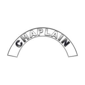 Chaplain White Firefighter Fire Helmet Arcs / Rocker Decals Reflective