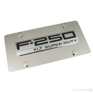 Ford F 250 Chrome Name Badge On Polished License Plate