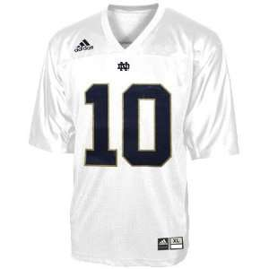 adidas Notre Dame Fighting Irish #10 White Toddler Replica