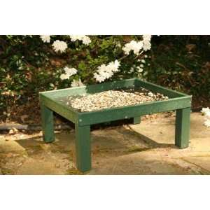 Platform Bird Feeder   Hunter Green Recycled Plastic, w/legs, Powder