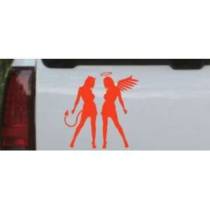Sexy Good Evil Twins Silhouettes Car Window Wall Laptop Decal Sticker