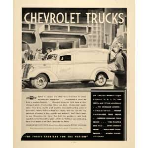 1938 Ad Chevrolet Truck Engine Motor Automobile Chassis