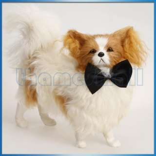 Pet Dog Puppy Cat Bowtie Necktie Neck Collar Decor w/ Adjustable Strap