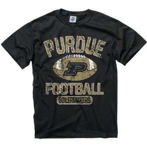 Boilermakers Youth Black Jock Football T Shirt