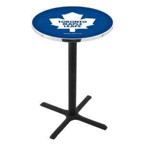 42 Toronto Maple Leafs Bar Height Pub Table   Cross Legs