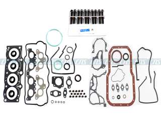 87 91 2.0 CAMRY CELICA DOHC FULL GASKET+HEAD BOLTS 3SFE