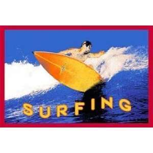 Surfing Area Rug 5x8