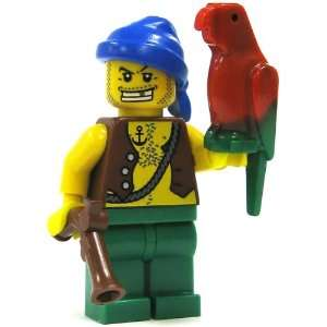 LEGO Pirate LOOSE Mini Figure Pirate (Pistol and Parrot) Toys & Games