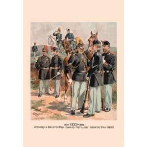 Exclusive By Buyenlarge Officers & Enlisted Men Cavalry
