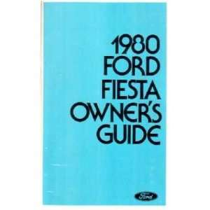 1980 FORD FIESTA Owners Manual User Guide Automotive