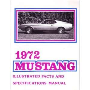 1972 FORD MUSTANG Facts Features Sales Brochure Book