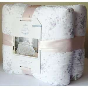 SIMPLY SHABBY CHIC FULL/QUEEN Size HAND  QUILTED QUILT