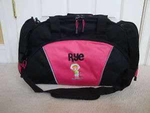 Personalized Duffel Bag Ski Skiing Skier Girls Kids