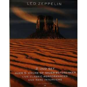 Led Zeppelin How the West Was Won Cd/dvd Promo Poster