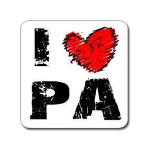 I Love Heart PA   PENNSYLVANIA   Window Bumper Laptop