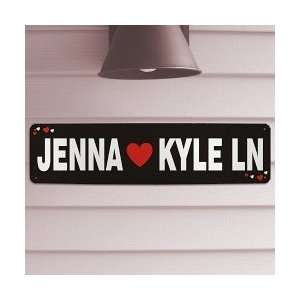 Valentines Day Personalized Names Lovers Lane Sign
