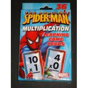 SPIDER MAN MULTIPLICATION LEARNING GAME FLASH CARDS