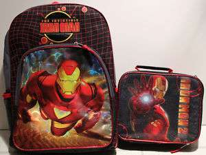 SET IRON MAN BACKPACK & LUNCH BAG Book Kit Box School