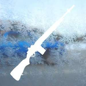 M14 Rifle 7 White Decal Car Laptop Window Vinyl White