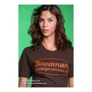 Goodmans BROWN American Apparel T Shirt EXTRA LARGE