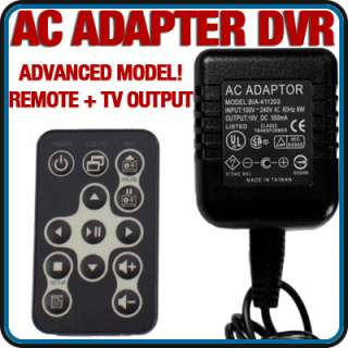 Motion Activated AC Adapter Covert Camera DVR Cam Nanny