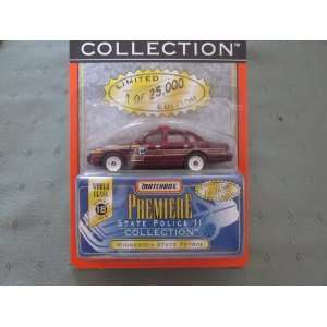 Minnesota State Patrol Matchbox Premiere Series 18 State Police