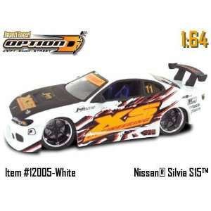Racer White Nissan Silvia S15 164 Scale Die Cast Car Toys & Games