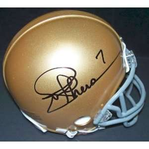 Joe Theismann Autographed/Hand Signed Notre Dame Mini