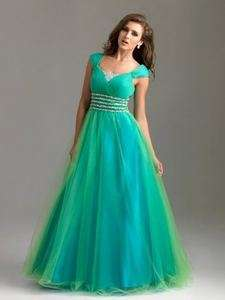 Modest Cap Sleeves Formal Evening Prom Gown Party Pageant Dress Custom