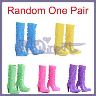 MIX LOT FASHION STRAPPY SHOES HIGH HEEL SANDALS BOOTS FOR BARBIE DOLL