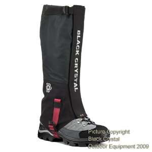 Black Crystal Hiking Gaiters Waterproof Breathable Nylon