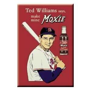 Ted Williams Says, Make Mine Moxie Refrigerator Magnet
