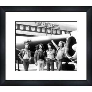 LED ZEPPELIN Airplane   Custom Framed Print   Framed Music