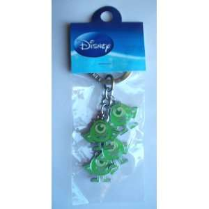 Disney Monsters Inc. Green Mike Metal Charm Key Ring ~Alien Monsters~